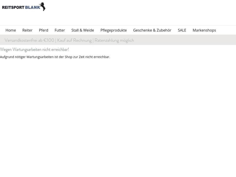 Screenshot von http://www.reitsport-blank.de